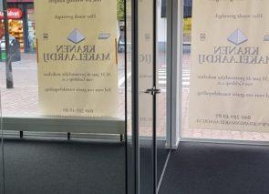 Glaswand met glazen deur geplaatst in Geldrop