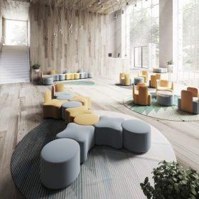 Kastel K2 Lounge elementen die onderling te combineren zijn