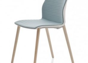 Kastel Kalea stoel met houten onderstel