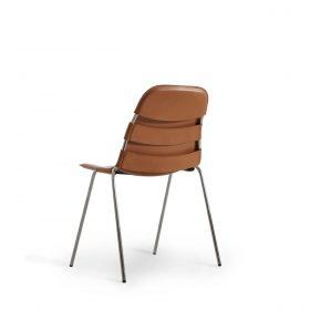 Offecct stoel BIKE met lederen bekleding en metalen frame