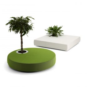 Offect Green Islands poef met geintegreerde plantenbak