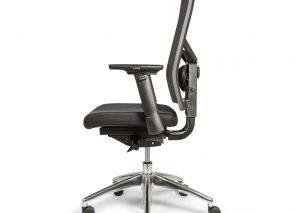 CS budget bureaustoel met aluminium onderstel en netweave rug