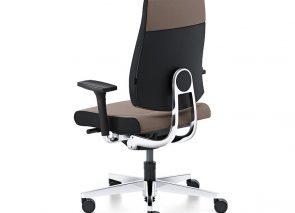 Dot bureaustoel met moderne vormgeving met aluminium onderstel en twee kleuren stoffering