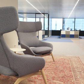 Eindresultaat kantoorverbouwing en kantoorinrichting bij Hays in WTC Utrecht