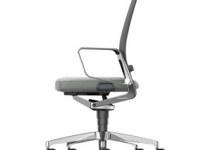 IS VINT bureaustoel met gestoffeerde zitting en netweave rug
