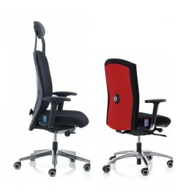 KH bureaustoel en of directiestoel met hoge en lage rug uitvoering