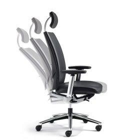 Kl flexibele bureaustoel - directiestoel met hoge rug en hoofdsteun