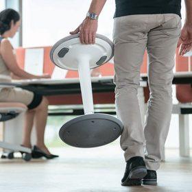 Sta zit hulp voor flexibel werken gemakkelijk mee te nemen