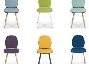 Sedus Se-Spot stoelen met losse hoezen naar smaak samen te stellen