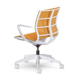 Sejoy is een moderne design bureaustoel met een opvallende achterkant
