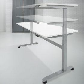 Zit sta bureau elektrisch verstelbaar van 63 - 128 cm voorzien van 4 memory standen