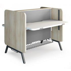 Zit sta bureau stand up met dichte zijwanden voor meer privacy