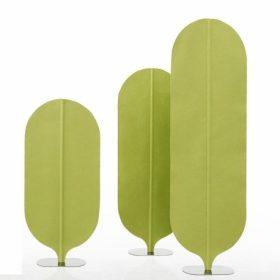 Vrijstaande akoestische panelen geven een speels effect aan je kantoor