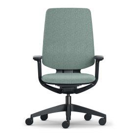 se-flex bureaustoel uitgevoerd met zwart onderstel