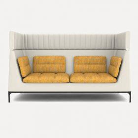 Allemuir Haven sofa met hoge rug in twee kleuren gestoffeerd