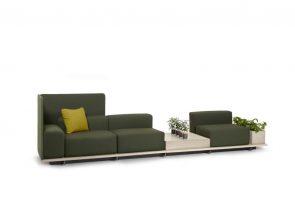 Sofa systeem voor ontvangstruimte naar wens samen te stellen