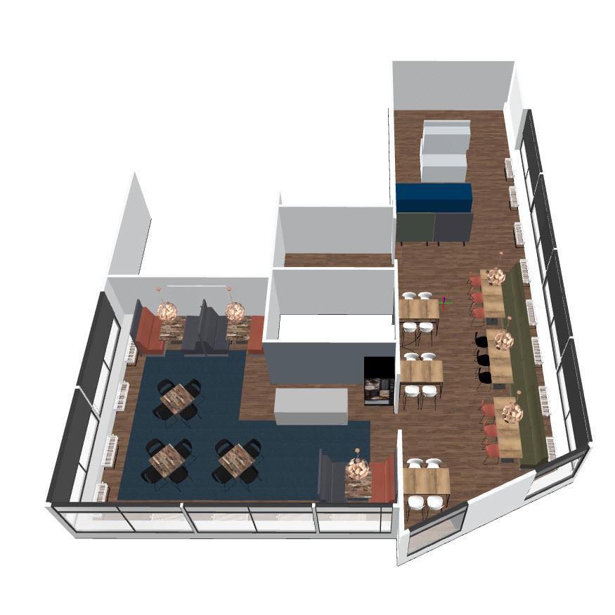 Schindler kantine 3D ontwerp