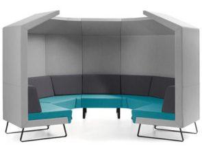 Bejot Cave akoestische vergaderunit ideaal voor overleg in kantoortuin