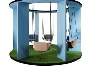 Bejot social swing schommel voor actief vergaderen of overleg