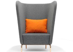 Broes fauteuil met hoge rug - oorfauteuil