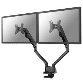 Bureausteun met gasveer voor 2 flatscreen schermen