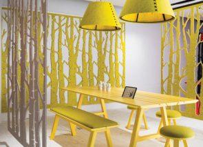 Akoestische ruimteverdeler voor sfeer en privacy op kantoor
