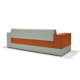 Achterzijde Sofa Colors waar op vele manieren kleuren en texturen te combineren zijn
