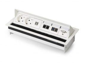 Inbouwunit met stroom USB USB en Cat