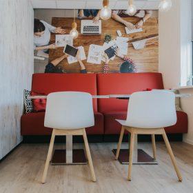 Kantinebank treinbank ideaal voor wandopstellingen in bedrijfskantine of horeca