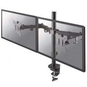 Monitorarm voor 2 schermen voor bevestiging aan bureau of werkplek