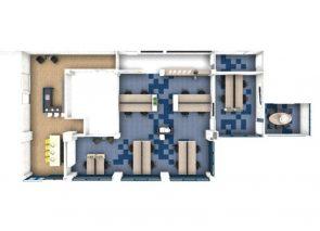 3D Plattegrond kantoorinrichting Thijs Logistiek in Weert
