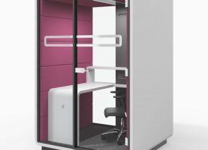 Akoestische concentratie werkplek ideaal voor in kantoortuin