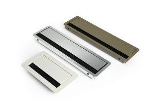 Kabeldoorvoer voor bekabeling in werkbladen en vergadertafels