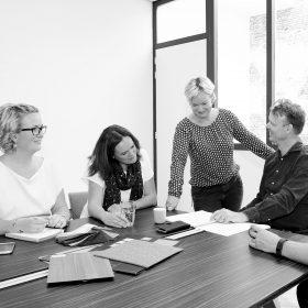 Overleg projectplanning om de voortgang van het project te bewaken