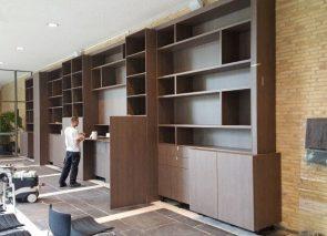 Kantoorrenovatie interieurbouw kast op maat