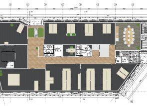 Vehco 2D tekening Boven etage