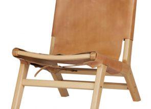 VT Wonen Buckle up fauteuil leer hout naturel