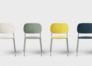 De Vorm Hale stoel in vele kleuren Pet felt leverbaar