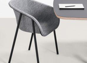 De Vorm Arm Chair heeft veel comfort en goede akoestische eigenschappen