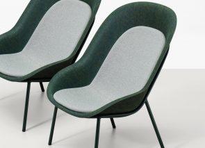De Vorm Nook Lounge Chair zitschaal gemaakt van vilt van gerecyclede PET Flessen
