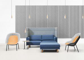 De vorm banken en fauteuils