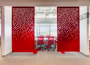 Gebruik van roodtinten op kantoor