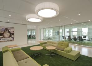 Groentinten op kantoor werken rustgevend en stress verlagend