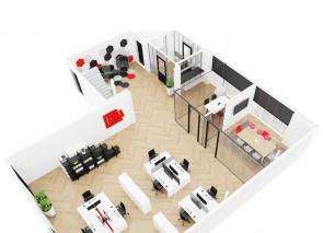 3D kantoorontwerp van Gielissen in Veldhoven