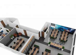 DSV Eindhoven kantoortuin 3D ontwerp