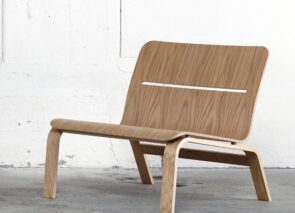 David design Bowie lage loungestoel in hout