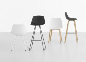 Lapalma miunn serie stoelen en krukken met verschillende onderstellen