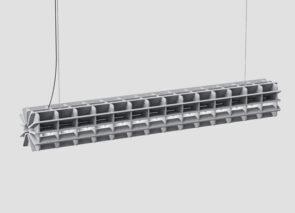 ReFelt Radial Hanglamp gemaakt van gerecyclede plastic flassen