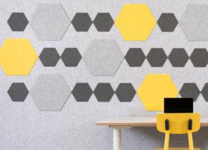 Refelt akoestische PEt Felt hexagon tegels