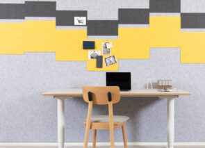 Refelt akoestische tegels voor betere akoestiek op kantoor